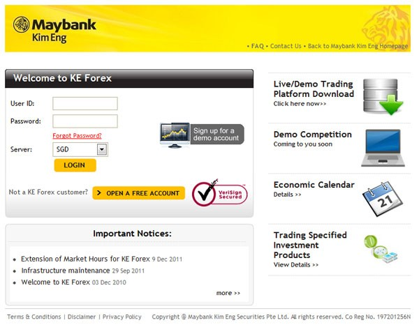 Maybank forex singapore